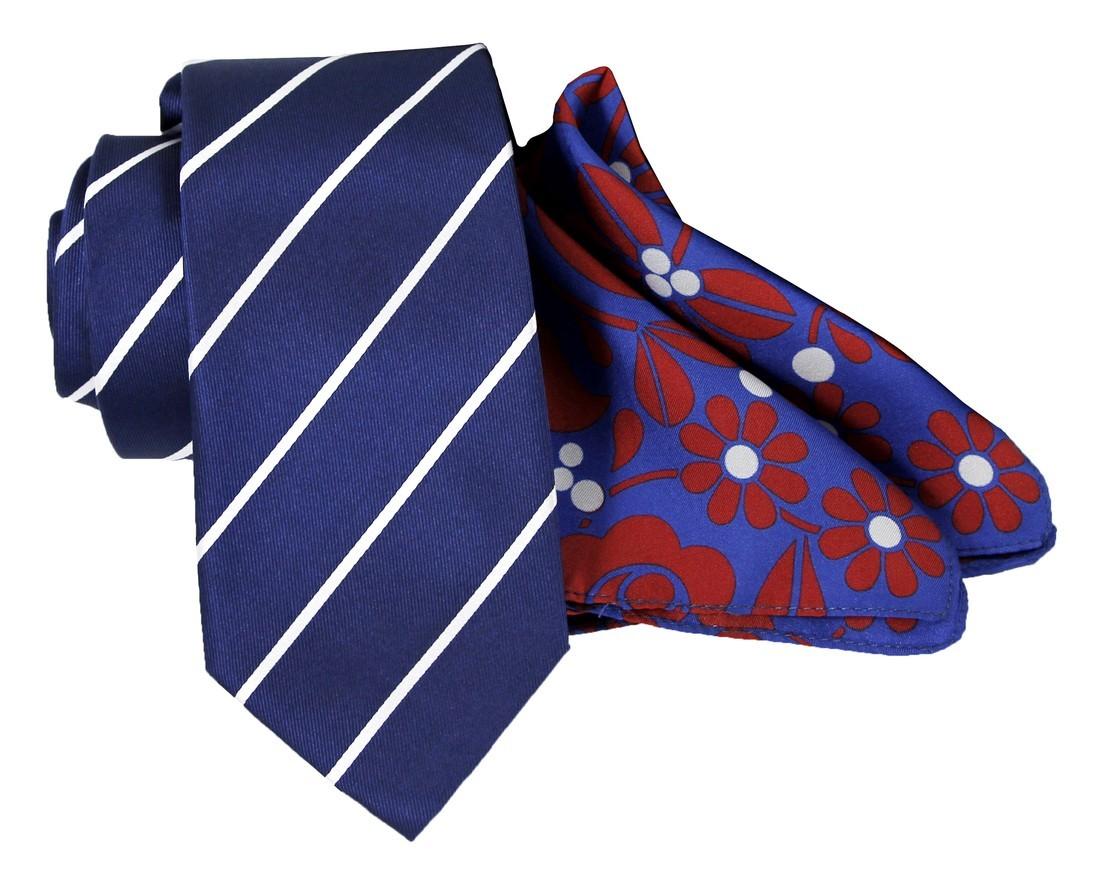 Krawat jedwabny | Poszetka